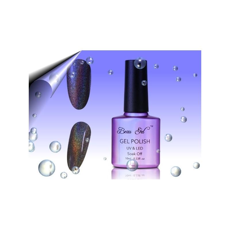 Soak Off Regenbogen UV Nagellack Schwarz ~ Nr.11